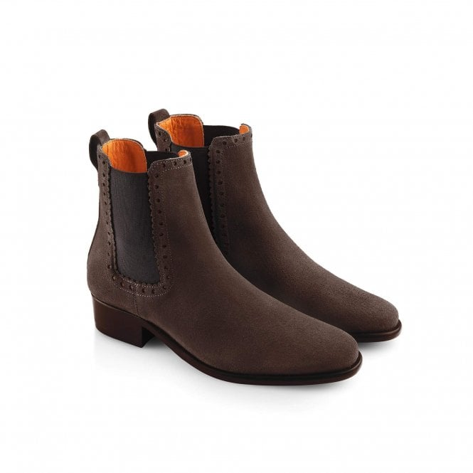Fairfax & Favor Womens Brogued Chelsea Boot in Chocolate ...