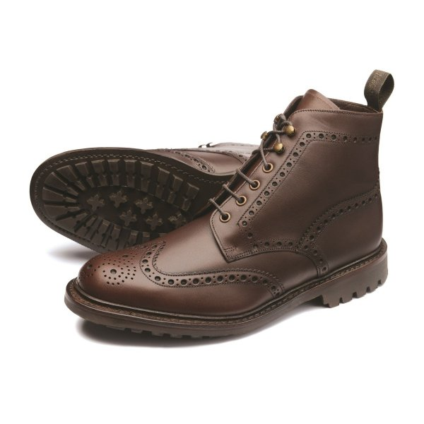 Loake Mulligan Mens Brogue Boot In Brown Parkinsons Lifestyle