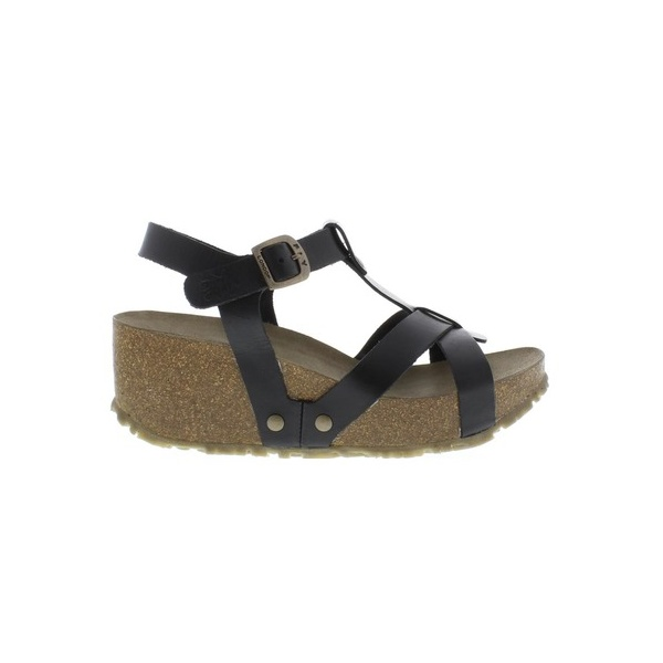 Fly London Womens Cola Sandal In Black Parkinsons Lifestyle