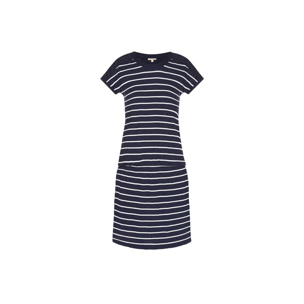 Barbour Womens Clovely Dress In Navy White Parkinsons