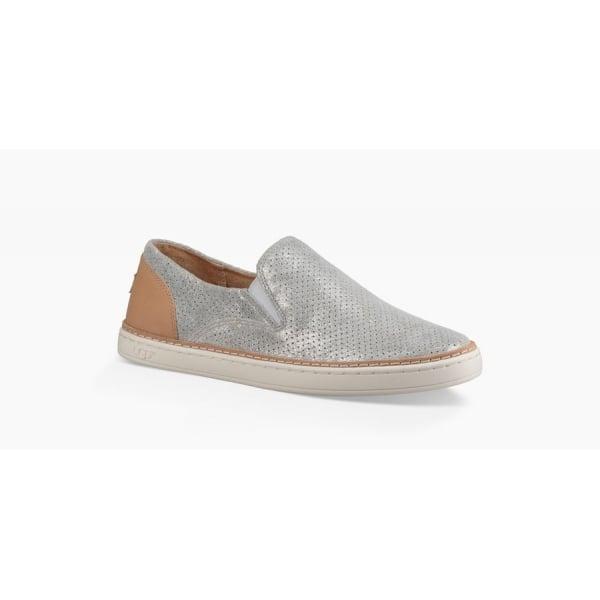 639eca877b6 UGG Womens Adley Perf Stardust Slip On Shoe in Silver