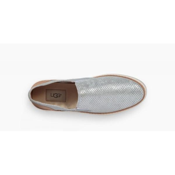8fd3a503e63 UGG Womens Adley Perf Stardust Slip On Shoe in Silver