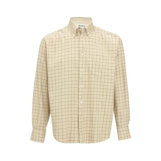 Barbour Mens Hacking Shirt in Olive