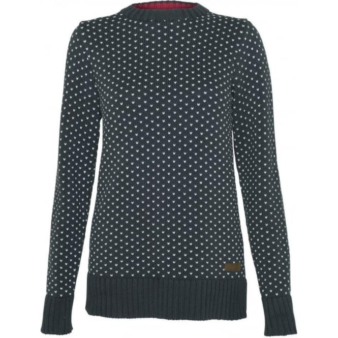 Barbour Womens Blair Jumper in Navy