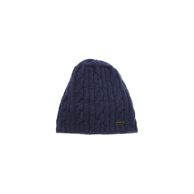 314d19dbbe4 Barbour Womens Blaydon Cable Beanie Hat in Navy - Accessories from ...