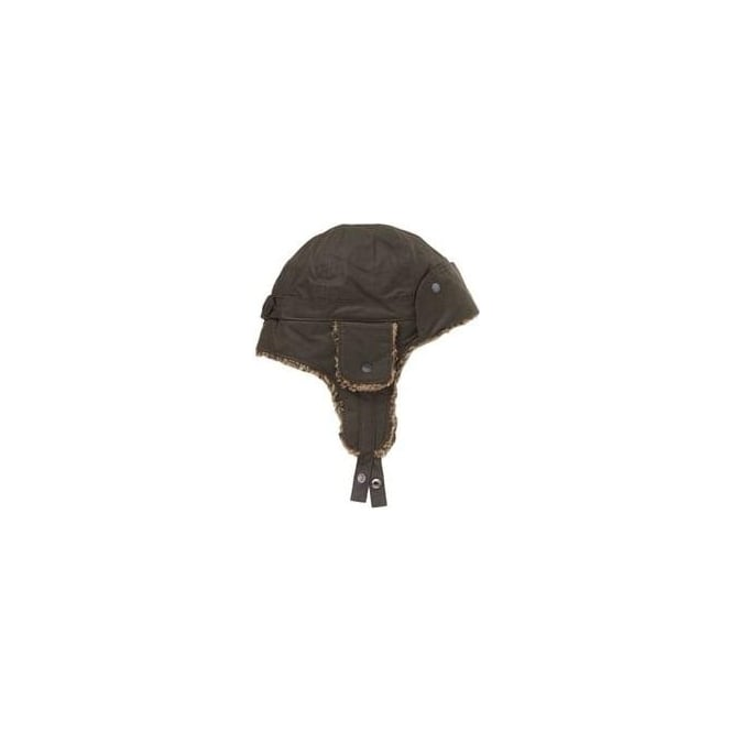 Barbour Womens Wax Flying Hat in Olive
