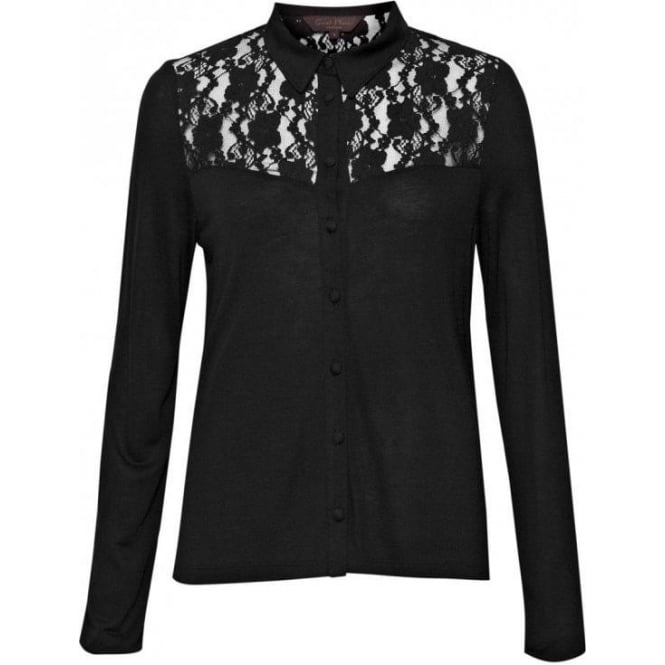 Great Plains Womens Emerson Lace Shirt in Black
