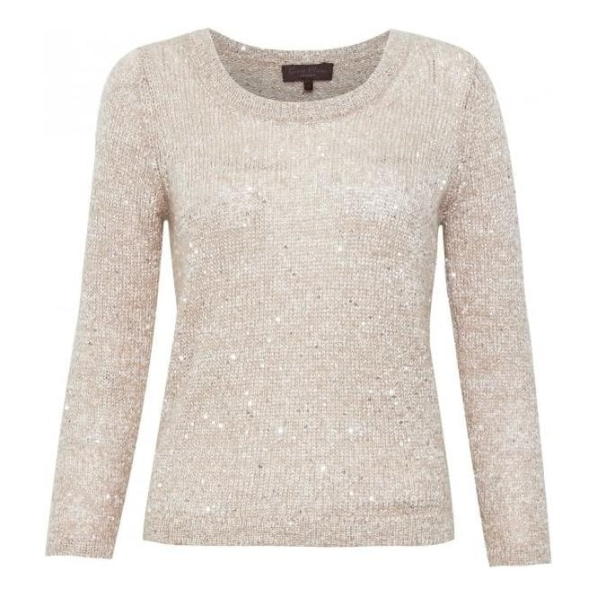 Great Plains Womens Amelie Mohair Knit in Beige