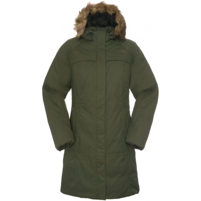048f4817 The North Face Womens Arctic Parka in Fig Green - Women from ...