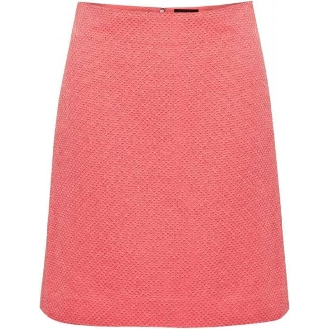 Great Plains Mini Waffle A Line Skirt in Cupcake Coral