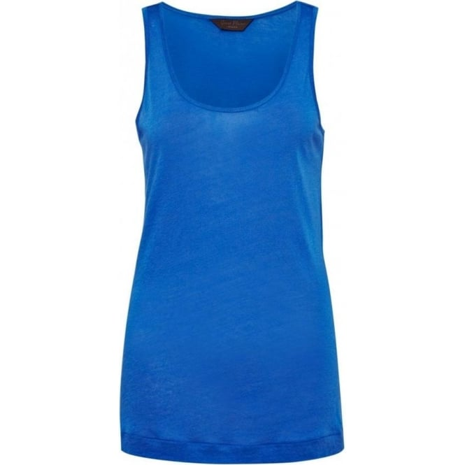 Great Plains Womens Featherweight Jersey Vest in Cobalt Blue