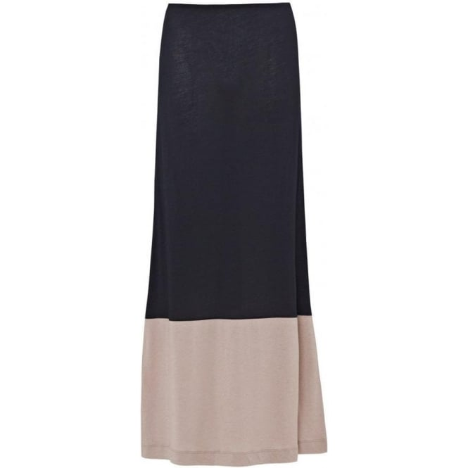 Great Plains Block Maxi Skirt in The Navy/Sparrow