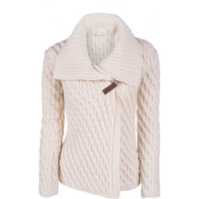 Peregrine Womens Cross Over Cardigan in Ecru