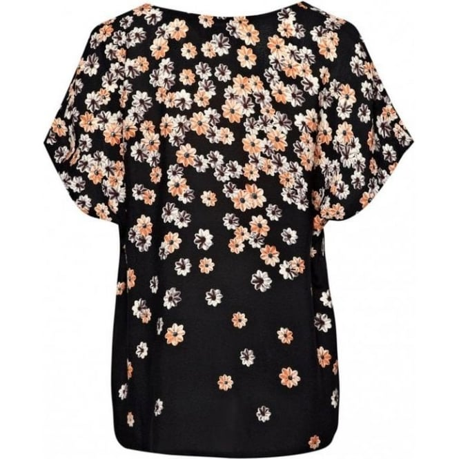 Great Plains Womens Flowers To Juliet Top in Black
