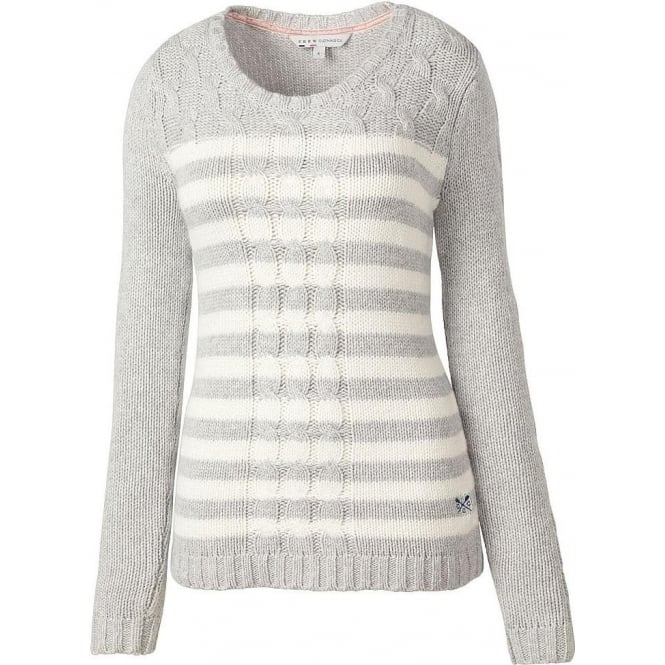 Crew Clothing Womens Shakly Jumper in Grey