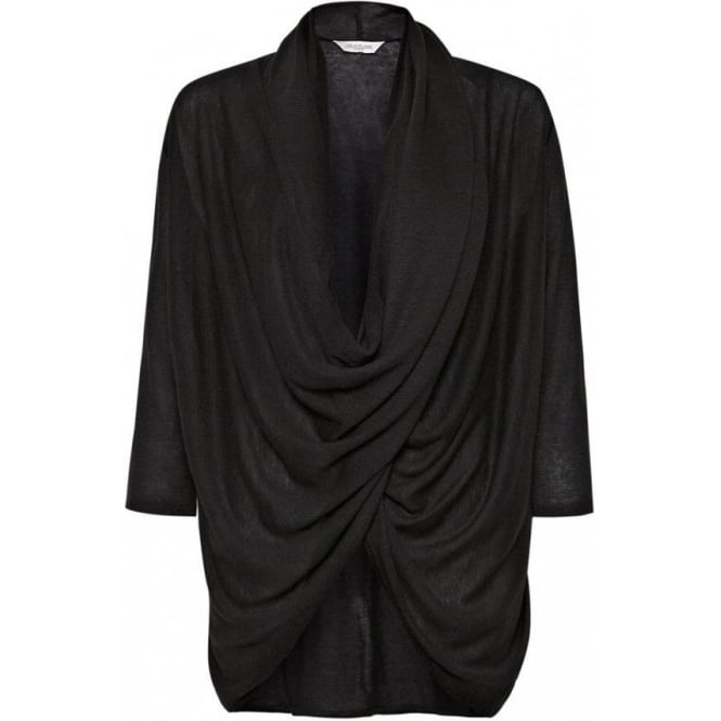 Great Plains Womens Caitlin Jersey Wrap Around Top in Black
