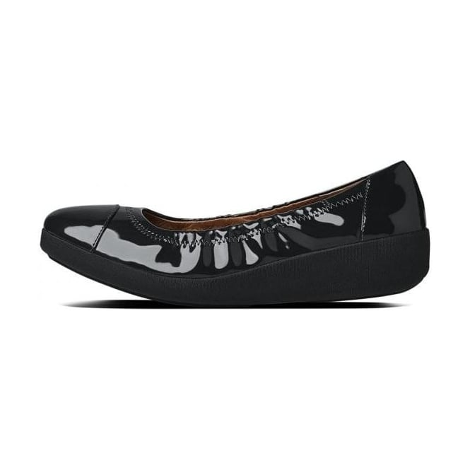 3f166d16e72 Fitflop™ Womens F Pop™ Ballerina in Black Patent