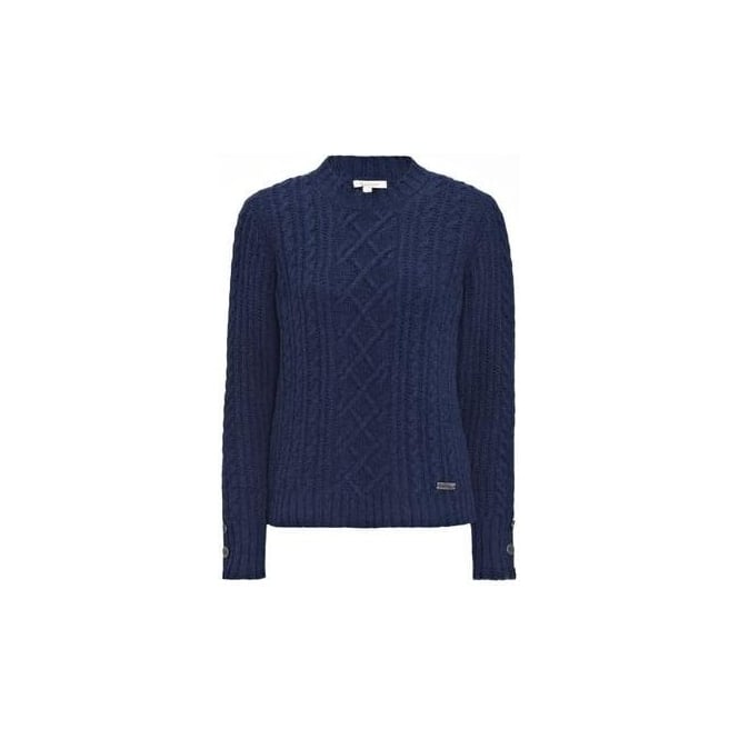 99832174a294 Barbour Womens Barrasford Knit Jumper in Navy