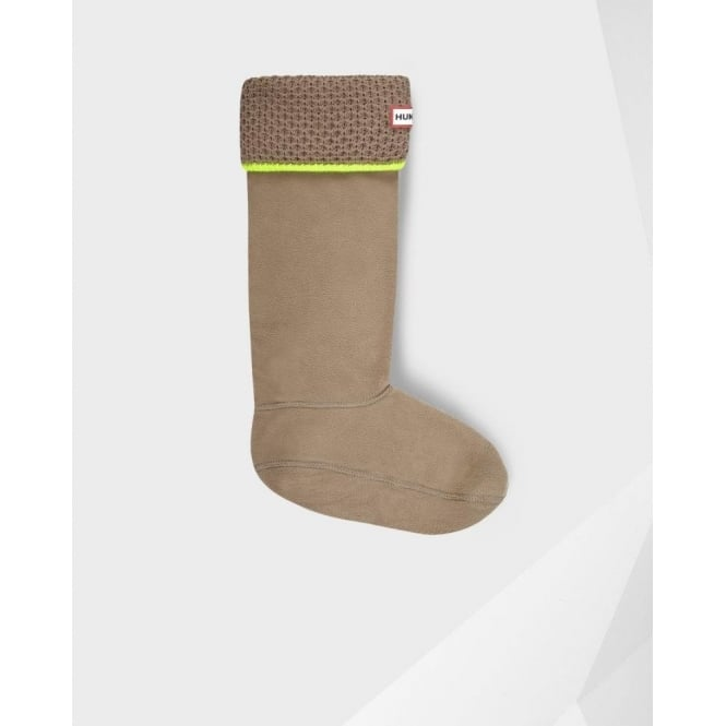 Hunter Neon Welly Socks in Putty and Neon Yellow