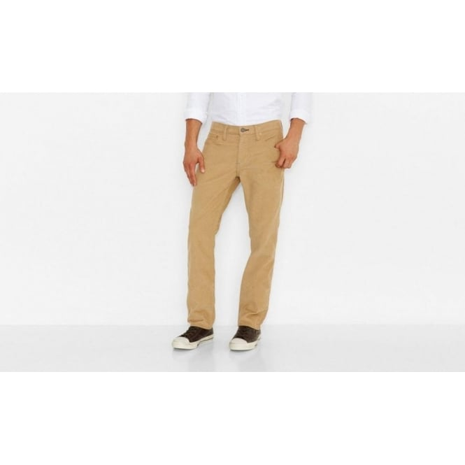 Levi's Mens 511 Slim Cord Trousers in Sand