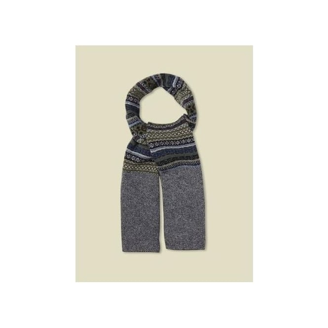 White Stuff Mens Ben Fairisle Scarf in Blue