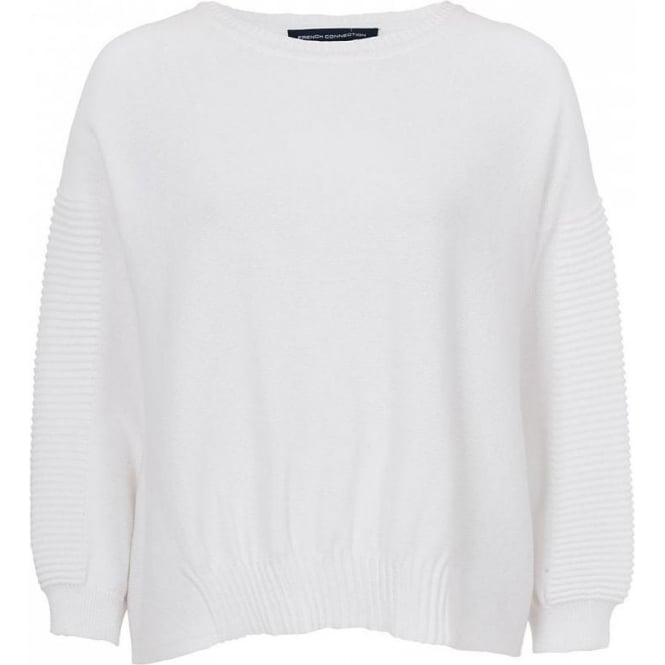 French Connection Womens Springtime Mozart Jumper in White