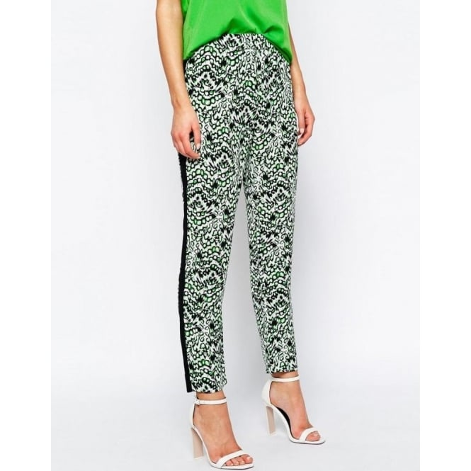 French Connection Womens Leopard Moth Trousers in Astro Green