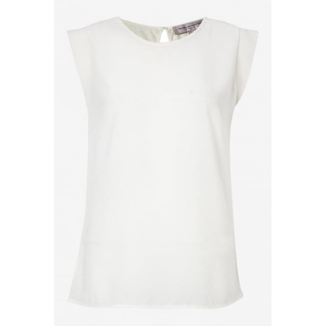 French Connection Womens Polly Plains Top in White