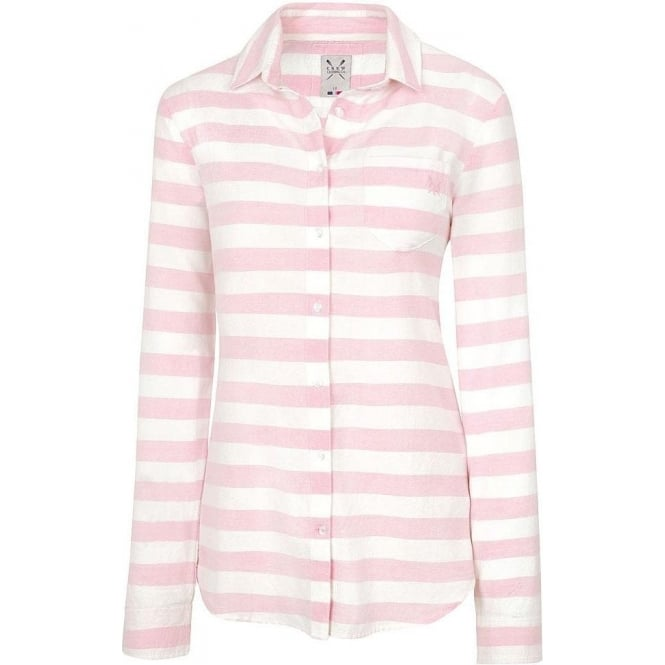 Crew Clothing Womens Hazel Shirt in Pink and White