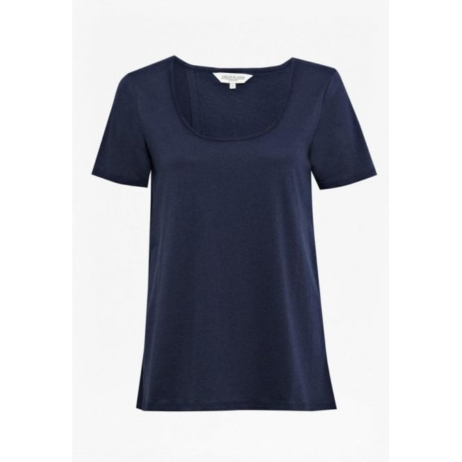 Great Plains Womens Cerys Open Back Tee in Admiral Blue