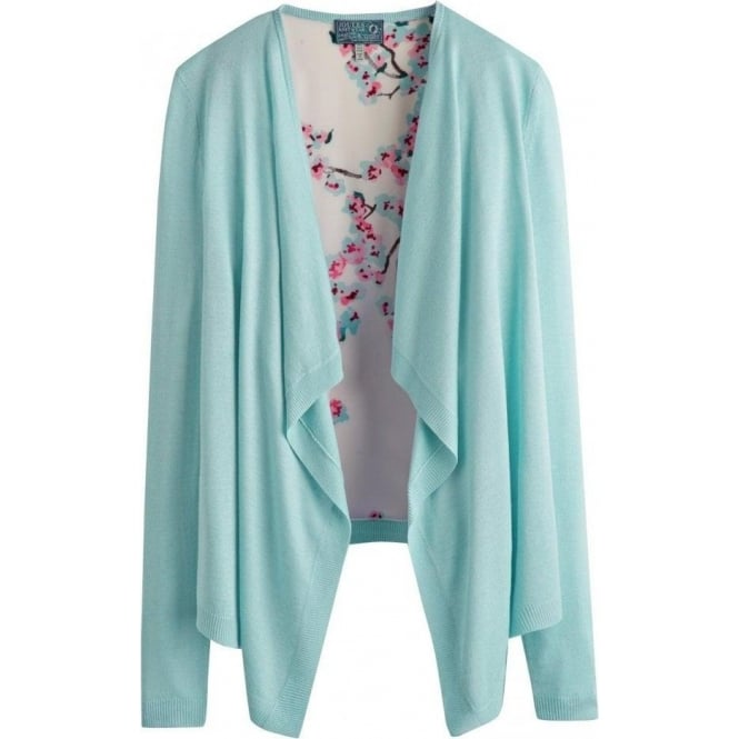 Joules Womens Blossom Cardigan in Light Blue Blossom