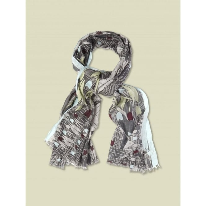 White Stuff Womens Bicycle & Tulip Scarf in Multi