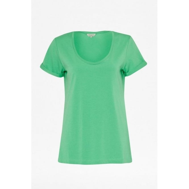 Great Plains Womens Primrose Stretch Scoop Tee in Apple Green