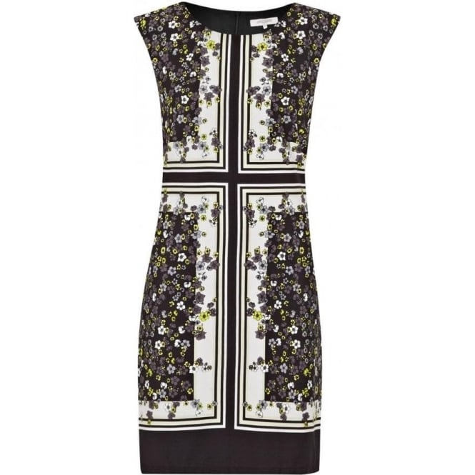 Great Plains Womens Window Box Print Dress in Graphite