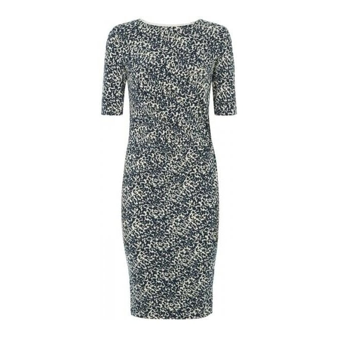 People Tree Womens Abigail Abstract Dress in Navy