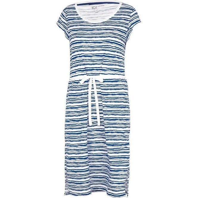 Crew Clothing Womens Newton Dress Water Stripe Blue