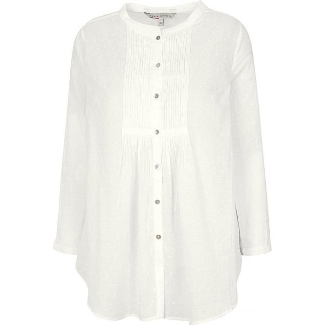 Crew Clothing Womens Saffron Top in White Linen