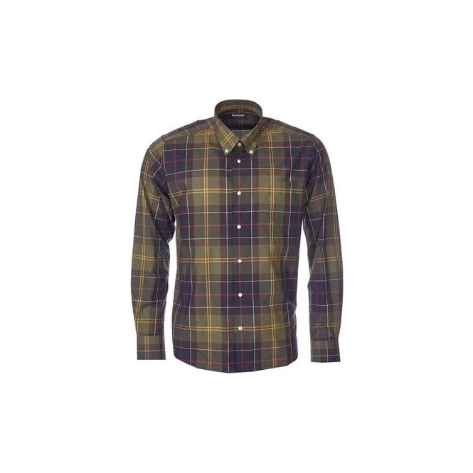 Barbour Mens Glen Tailored Fit Shirt In Classic Tartan