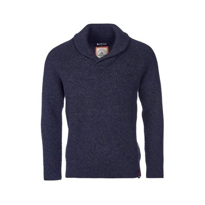 Barbour Mens Bransfield Shawl Neck In Navy