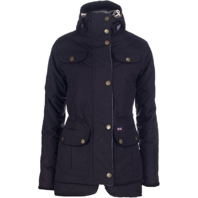 Peregrine Womens Hooded Londoner Jacket in Black