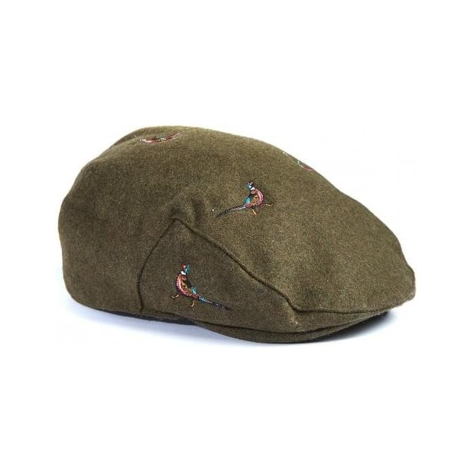 Barbour Pheasant Flat Cap in Olive