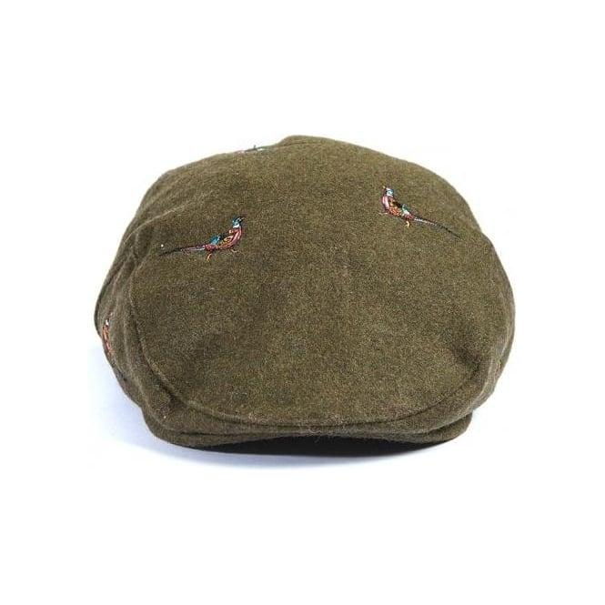Barbour Pheasant Flat Cap in Olive  eb60dab87a7e