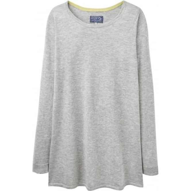 Joules Womens Liza Knitted Tunic in Soft Grey Marl