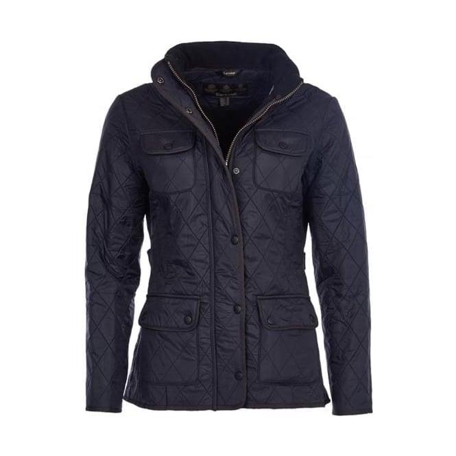 Barbour Womens Utility Polarquilt Jacket in Black