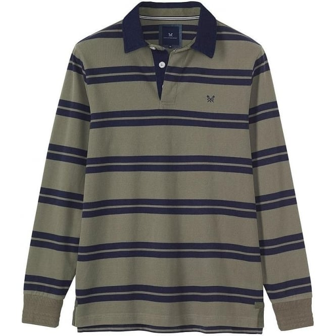 6e856ebc7d crew clothing ashen long sleeve rugby in soft khaki|parkinsons lifestyle