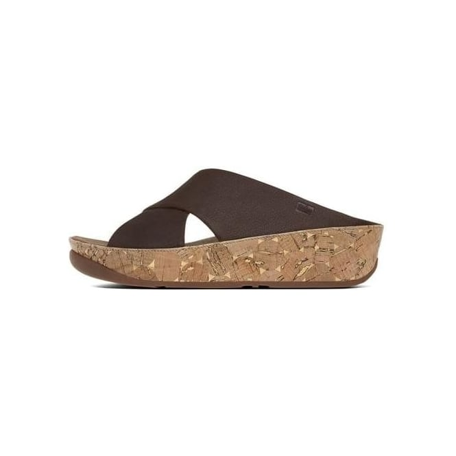 9fc13f8da00 FitFlop™ Kys™ Leather Slide in Chocolate Brown