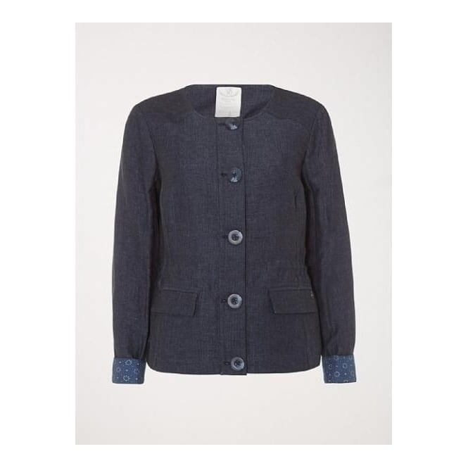 White Stuff Womens Wegner Jacket in Ebony Blue
