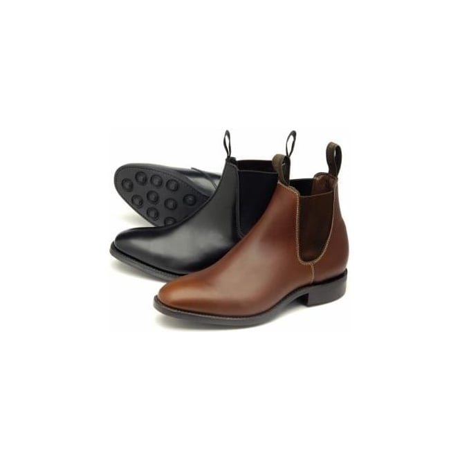 84fe1230f1e8 Loake Womens Chatterley Chelsea Boot in Brown