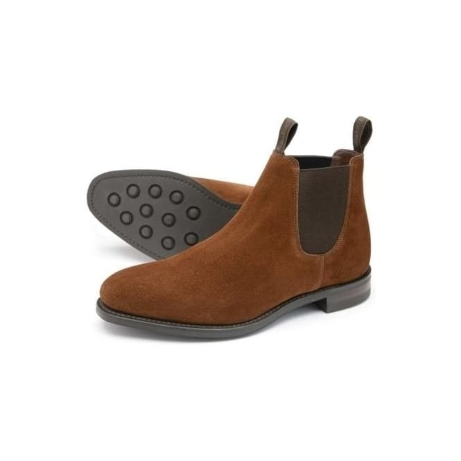 Loake Womens Chatterley Chelsea Boot in Brown Suede 32c9a27206
