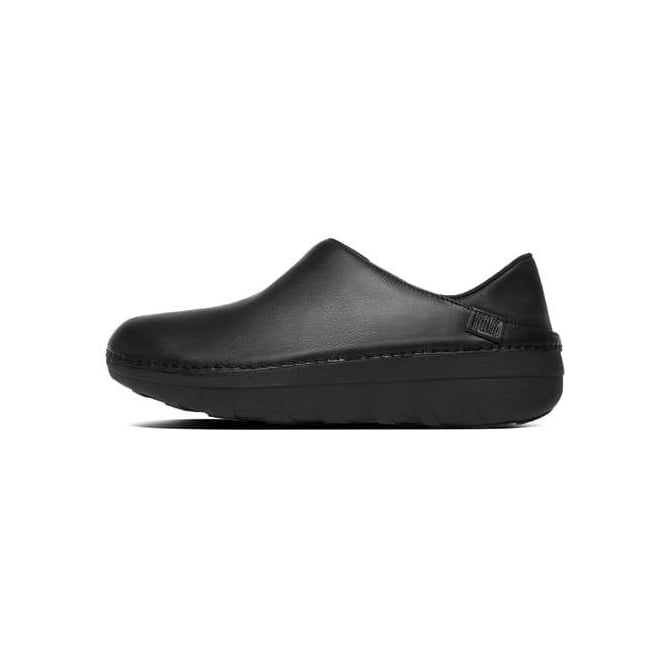 f6c20aaa3276 Fitflop Superloafer Leather Loafers in All Black